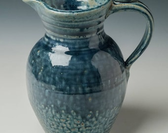 pottery pitcher, ceramic pitcher, water or wine