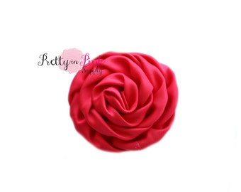 Red Isabella Collection Ruffled Rosettes- You Choose Quantity- Rolled Rosettes- Rolled Rosettes- Rosettes- Flower- Supply- DIY Headband