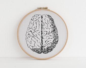 Anatomical Brain cross stitch pattern counted x stitch Anatomy