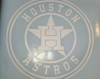 Houston Astros Vinyl Decal - Many colors available