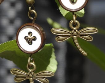 Naiad - Earrings buttons and charms