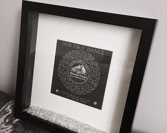 Personalised 'Our First Dance' Print with Frame
