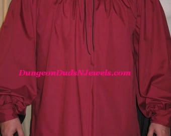 DDNJ Choose Color Men's Poet Pirate Swashbuckler Shirt Plus Custom Made Any Size Renaissance Civil War Gypsy LARP Cosplay Steampunk Costume