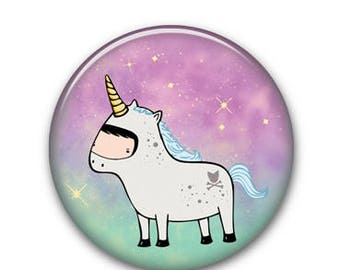 "Unicorn 1.25"" Button"