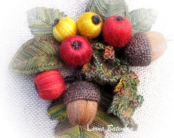Berries for Birds - Stumpwork kit picture for framing