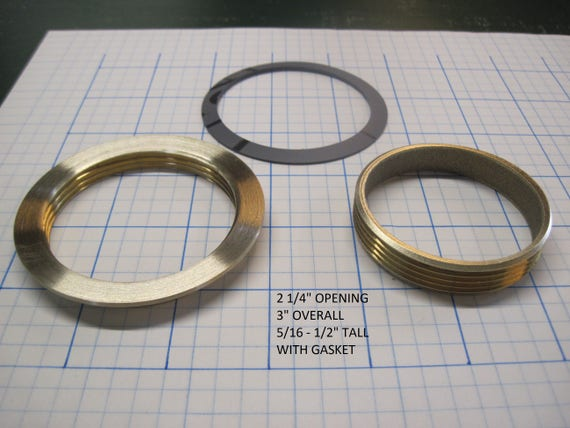 "2 1/4"" Opening Threaded Brass Inserts"
