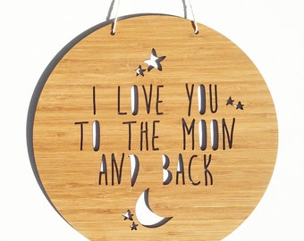 To The Moon And Back Bamboo Wall Hanging (2 sizes)