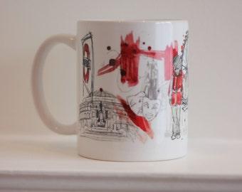 London Mug Designed by Ruth Joyce // London Illustration // London Art // London Gift // London Mug // Mothers Day