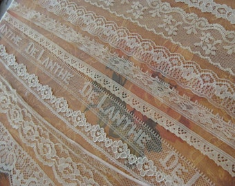 9 Yards Vintage and Antique Lace Lot N024 9 Yards