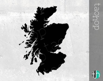 Scotland SVG, PNG, Scotland Silhouette, High Detail and Smoothed Versions.