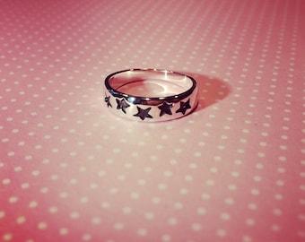 925 Sterling Silver Star Baby Ring
