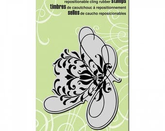 Stampendous Swirl Flourish Rubber Cling Stamp CRR239 Scroll Flower Floral Scrapbooking Journaling Paper Craft Tool New In Package