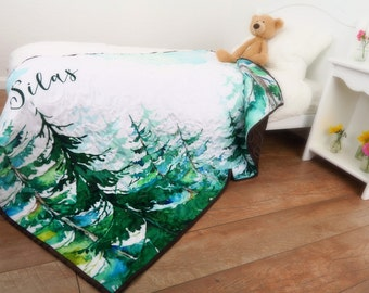Woodland Baby Quilt * Forest Baby Quilt * Forest Nursery Bedding * Woodland Crib Bedding * Woodland Nursery * Forest Nursery * Tree Quilt