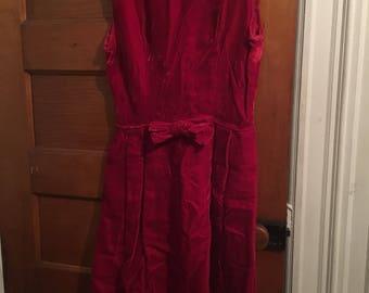 Jess Dress- Red velvet bow dress