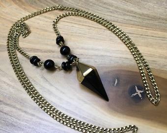 Black Pendulum Necklace