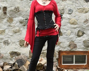 Iseult Blouse Medieval clothing blouse - Steampunk shirt for LARP, victorian costume and cosplay