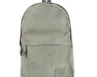 Suede Leather Backpack Rucksack in Vintage Grey by MAHI Leather