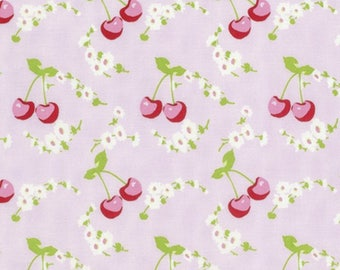 1 YARD Rambling Rose by Tanya Whelan for Free Spirit Cherries in Pink Cotton Fabric