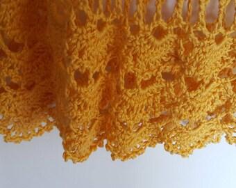 Handmade Yellow Crochet Camisole