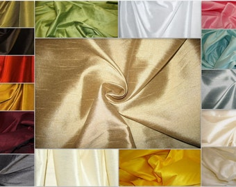 "Shantung Dupioni Faux Silk Fabric , sold by  Yard, 58"" wide. 130 colors available."
