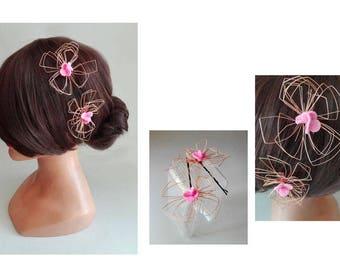 hair clip schabby wedding barrette wedding, engagement hair comb romantic woman Hat