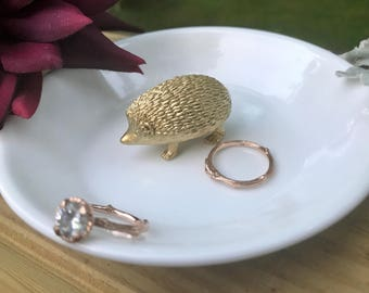 Hedgehog Ring Holder, Animal Jewelry Holder, Catch All, Jewelry Dish, Home Decor