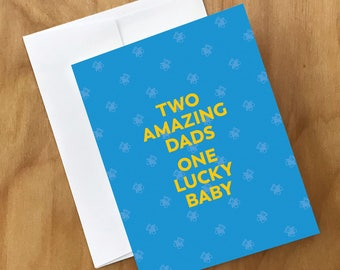 Gay Adoption Card | Card for Two Gay Dads Adopting a Baby
