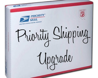 priority shipping upgrade - domestic only - great option to get your order to you faster