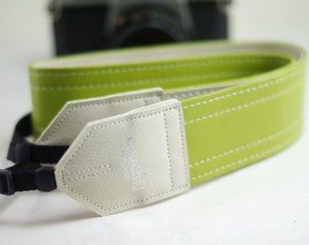 Lime Punch Vintage Camera Strap