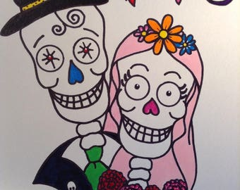 Day of the Dead Wedding Portrait