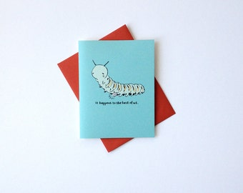 """Get Well Card - """"Happens to the Best of Us"""" - cute sweet speedy recovery feel better greeting card"""