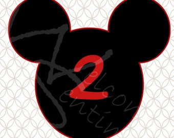 DIGITAL DOWNLOAD - Mickey Mouse Centerpiece parts AGE 2