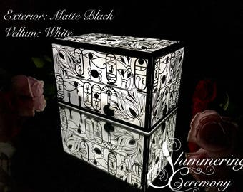 Egyptian Hieroglyph Large Laser Cut Paper Lantern Luminary