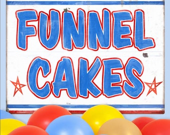 Funnel Cakes Carnival Food Wall Decal - #59408