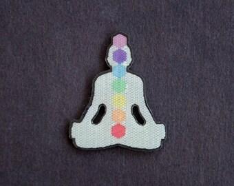 Meditating Chakra Hat Pin