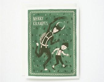 Merry Krampus Card 1pc