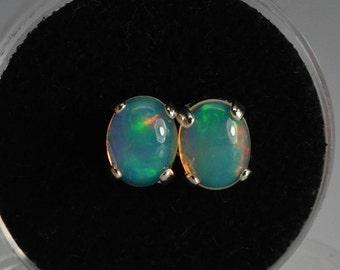 Opal earrings | 9X7, sterling silver,ethiopian opal,opal earrings studs,Welo Opal,October birthstone,natural opal,Mothers day gift,opal
