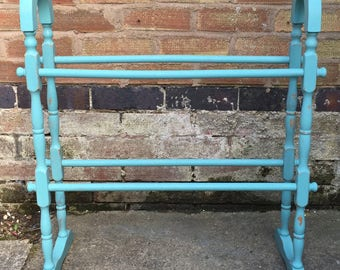 Towel Rail, Pine, Annie Sloan Provence chalk paint, Upcycled