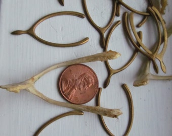 6 vintage Brass Wishbone
