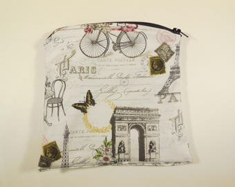Welcome to Paris sandwich or snack bag