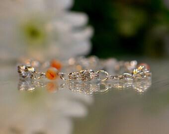 Sterling Silver Chainmaille Bracelet, Gemstone Bracelet, Birthstone Bracelet, Custom Bracelets, Jump Ring Jewellery, Charkra Bracelet