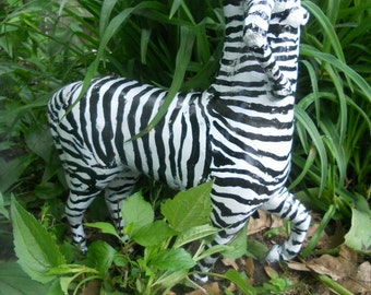 zebra stripe female centaur outdoor garden decoration sculpture fine art avant garde centaur figurine