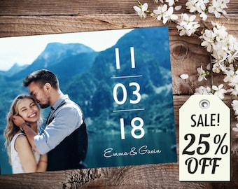 Personalized Save The Date Magnet • Save The Date Card • Save The Date Postcard • Modern Wedding • Printable