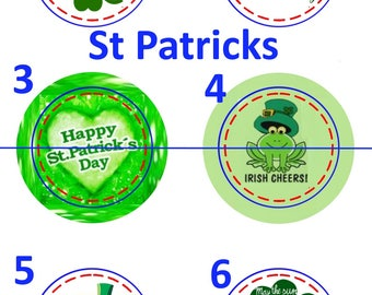 Holiday Buttons 1.25 inch