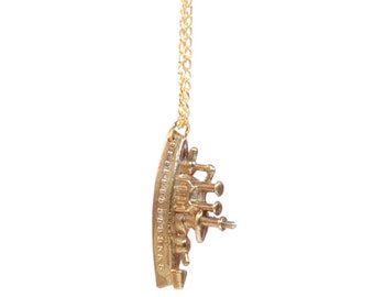 CHRISTMAS SALE > Necklace Pendant 'Golden' Boat Monopoly