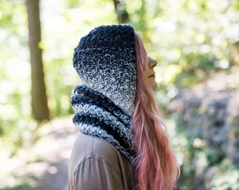 The Magpie Hooded Scarf Crochet Pattern