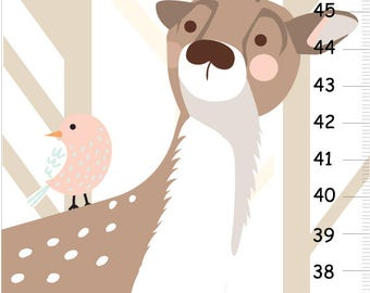 Deer growth chart, Woodland forest personalized GROWTH Chart   - Deer Nursery Decor,  Wall Height Chart, Kids Height Chart