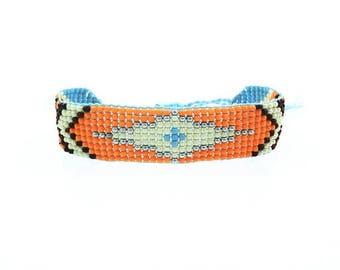 Arizona spirit boho bracelet / / / woven seed beads