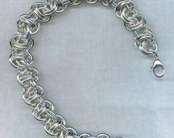 Barrel Bracelet in Argentium Sterling Silver