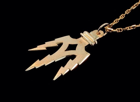 Zeus and poseidons lightning bolt trident pendant in mozeypictures Gallery